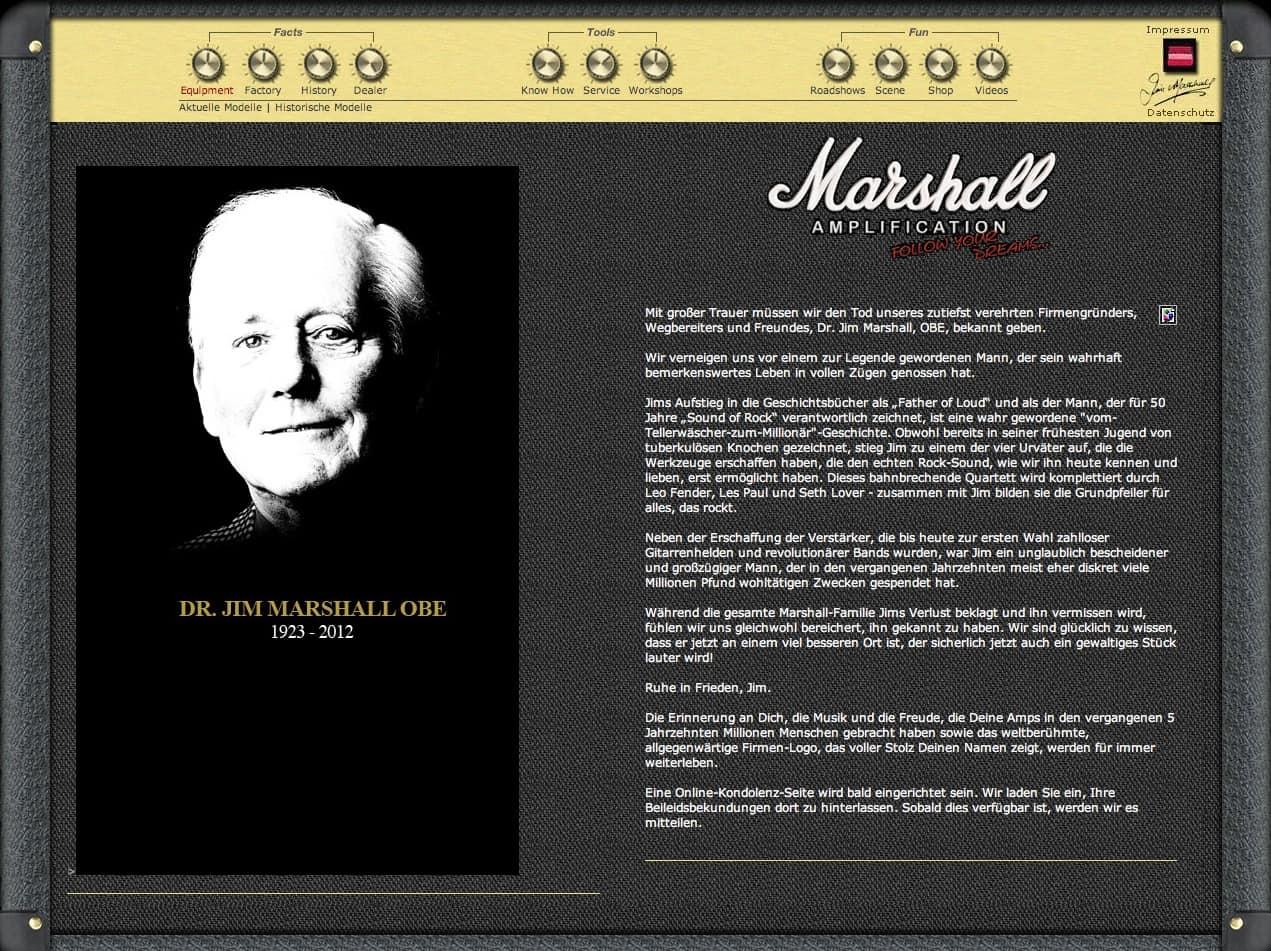 Screenshot marshallamps.de