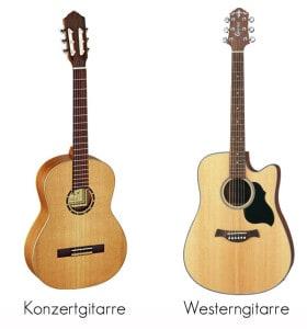 Unterschied Konzert- und Westerngitarre